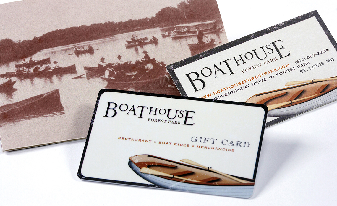 gift card with sleeve and business card
